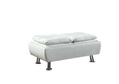 Dilleston White Ottoman