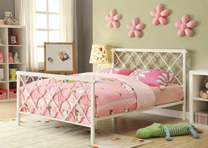 Juliette Sandy Yellow & Pink Full Bed