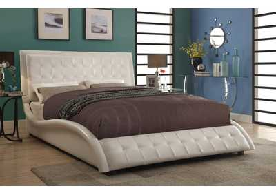 Tully White Upholstered Eastern King Bed