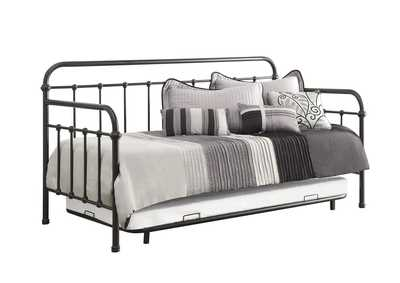Image for Mist Gray Dark Bronze Metal Daybed