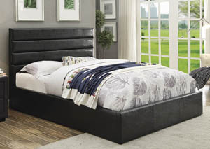 Riverbend Black Upholstered Storage Queen Bed