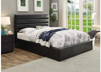 Riverbend Black Eastern King Upholstered Storage Bed