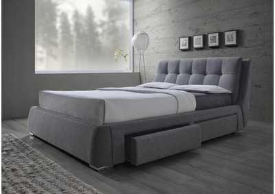 Fenbrook Grey Eastern King Uphostered Storage Bed