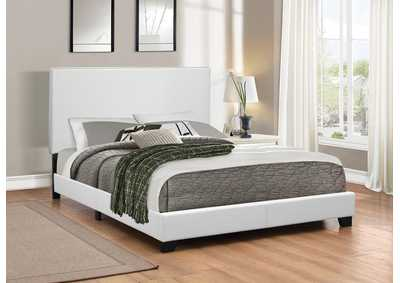 White Twin Upholstered Platform Bed