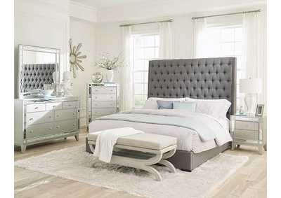 Image for Napa Camille Grey Upholstered Queen Bed