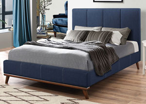 Charity Blue Queen Bed