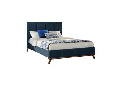 Image for Firefly Charity Blue Upholstered King Bed
