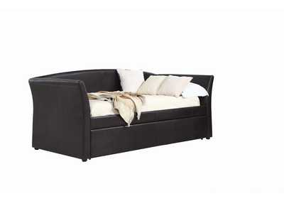Image for Mine Shaft Transitional Dark Brown Upholstered Daybed