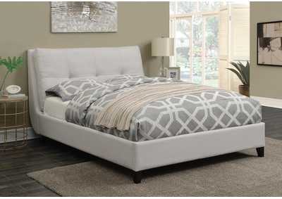 White Queen Upholstered Bed