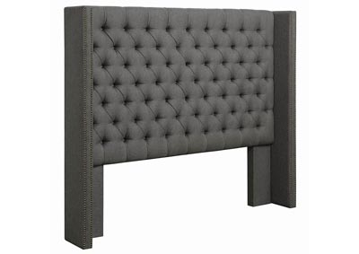 Benicia Grey Upholstered Eastern King Bed
