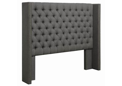 Benicia Grey Upholstered California King Bed