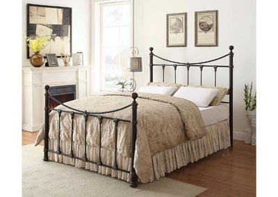 Bronze Twin Headboard and Footboard