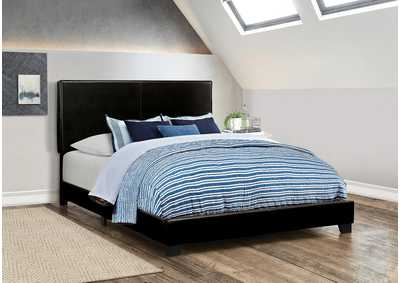 Dorian Black Upholstered King Bed