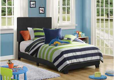 Dorian Black Upholstered Twin Bed