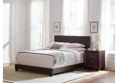 Dorian Brown Upholstered King Bed