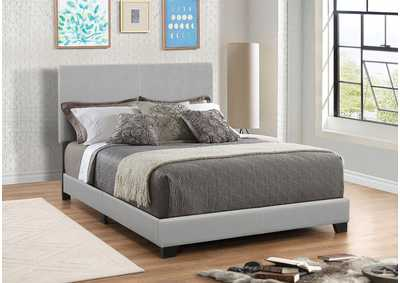 Dorian Grey Upholstered King Bed