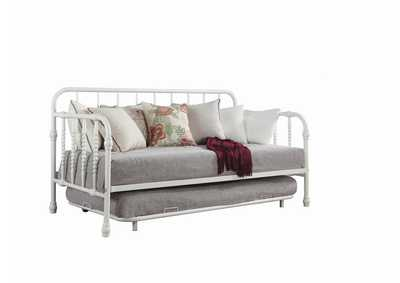 Image for Mist Gray Traditional White Metal Daybed