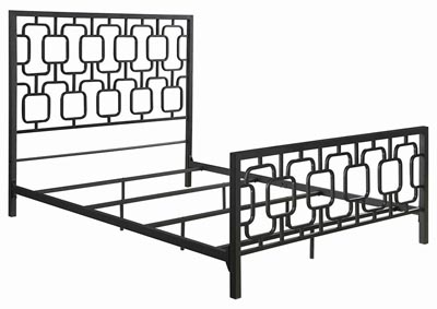 Black Metal Full Panel Bed