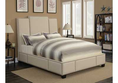 Beige California King Bed