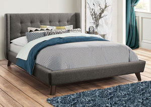 Carrington Grey Full Upholstered Bed