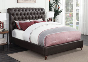Light Grey Queen Upholstered Bed