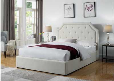 Beige Full Upholstered Bed