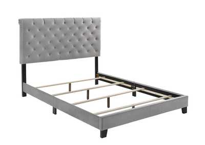 Warner Grey Upholstered Full Bed,Coaster Furniture