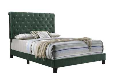 Warner Green Upholstered Full Bed