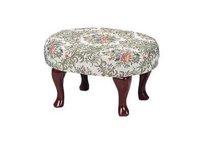 Image for Merlot Traditional Floral Foot Stool
