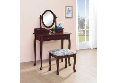 Brown-Red Vanity Set