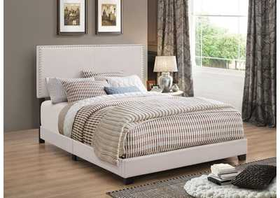 Boyd Ivory Twin Upholstered Platform Bed