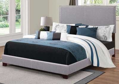 Boyd Grey Upholstered King Bed