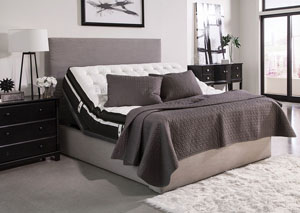 Gray Queen Adjustable Bed Base
