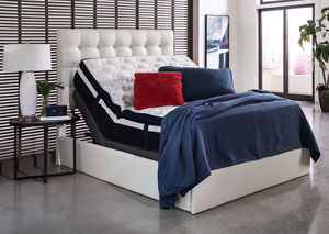 White Full Adjustable Bed Base