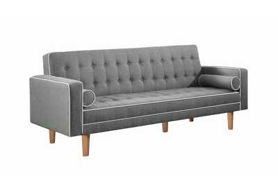 Lassen Grey Tufted Upholstered Sofa Bed