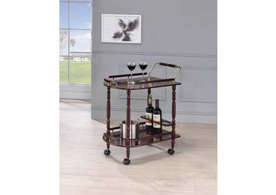 Recreation Room Merlot Serving Cart