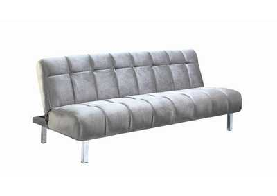 Image for Manatee Contemporary Silver and Chrome Sofa Bed