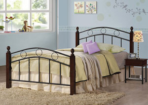 Black/Merlot Twin Bed