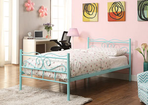 Mint Green Twin Bed