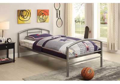 Baines Silver Twin Bed