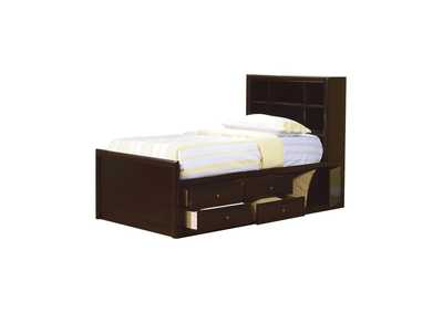 Image for Cappuccino Phoenix Twin Bookcase Bed