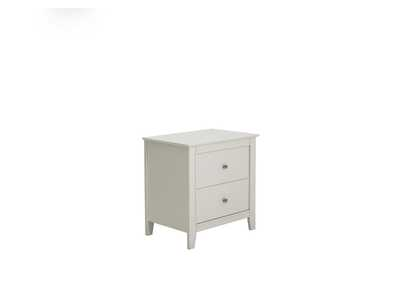 Image for White Selena Contemporary White Two-Drawer Nightstand