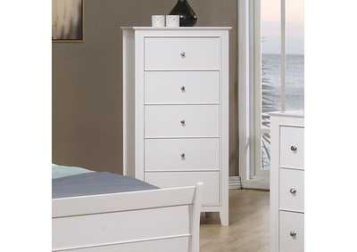 Image for White Selena Contemporary Chest
