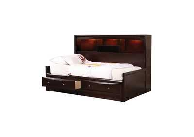 Licorice Phoenix Transitional Cappuccino Twin Bed,Coaster Furniture