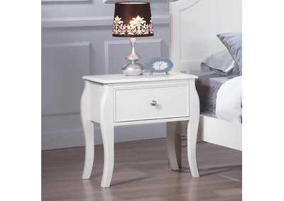 Dominique White Night Stand