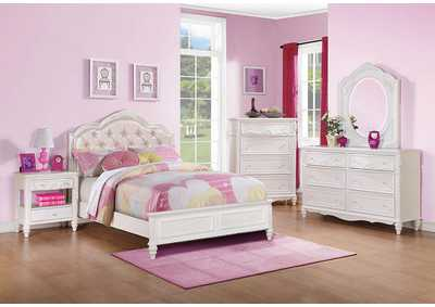 Caroline White Twin Bed