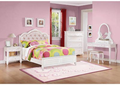 Caroline White Full Storage bed