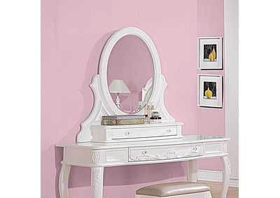 Image for Caroline White Vanity Mirror