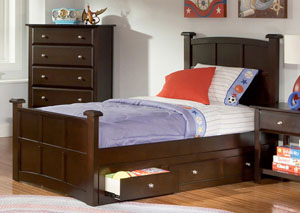 Jasper Cappuccino Twin Bed