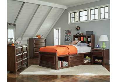 Greenough Maple Oak Twin Storage Bed